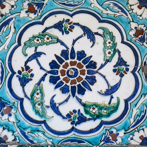 This is a tile from the Blue Mosque.
