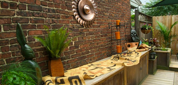Global Decor: African Inspired - Africa - Rooftop Garden - Baltimore - Maryland