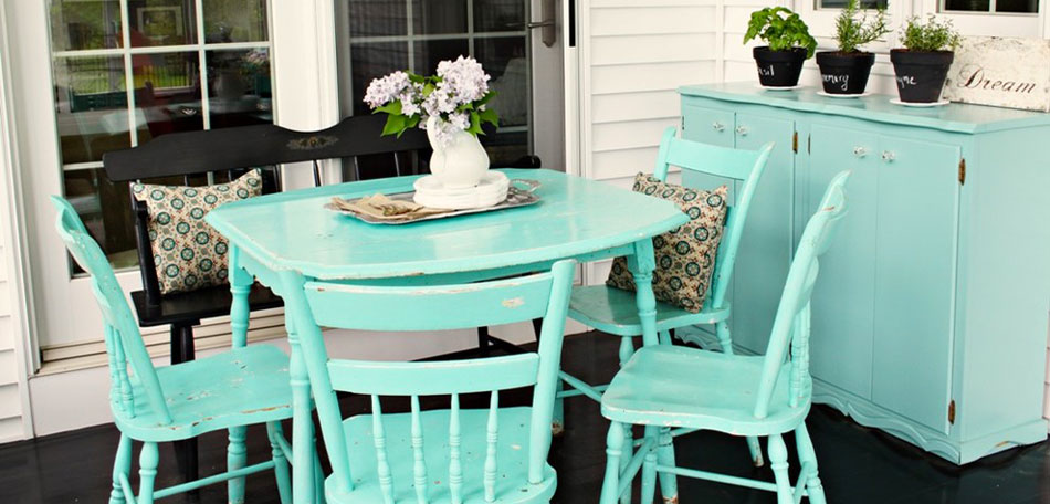 tablescape ideas, aqua patio color