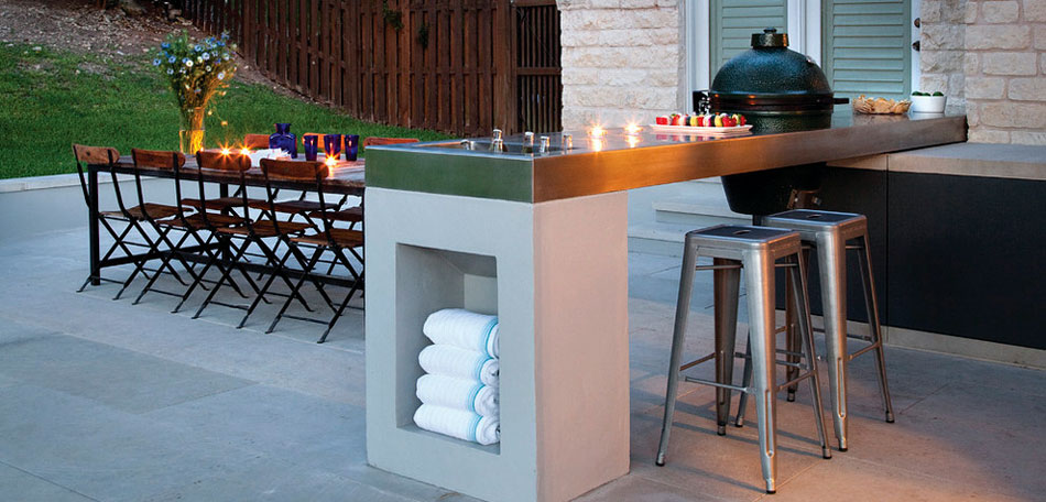 outdoor decorating ideas, 2014, modern, austin, texas, outdoor kitchen, patio dining space