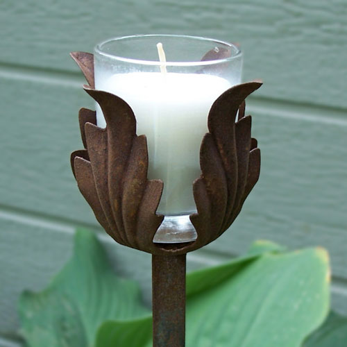 Beautiful Gardening Gifts, Outdoor Lighting, Garden Stake, Garden Art, Garden  Lighting, Candle