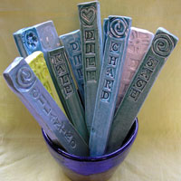 Mothers Day Ideas: Handmade Gift Ideas   Ceramic Herb Garden Stakes