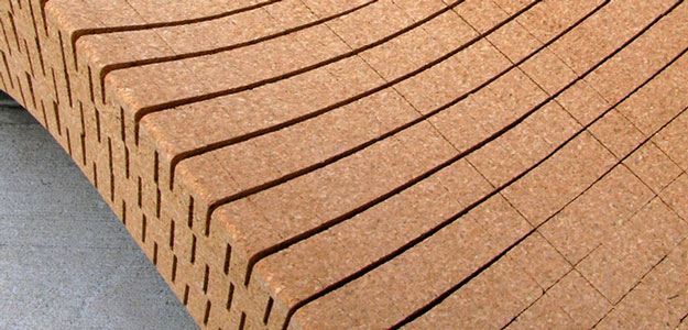 Patio Furniture Ideas: Outdoor Furniture - Garden Furniture - Design - Art - Eco - Eco-friendly - 100% Recycled - Cork - Chaise Lounge - Daniel Michalik - Brooklyn - New York City - Cork Close up View - Material