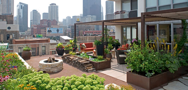 Rooftop Gardens: Ancient Idea - Modern Benefits - Modern Urban Roof Garden - Patio - Chicago