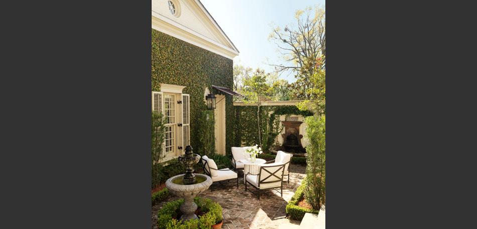 decorating small outdoor spaces, New Orleans style