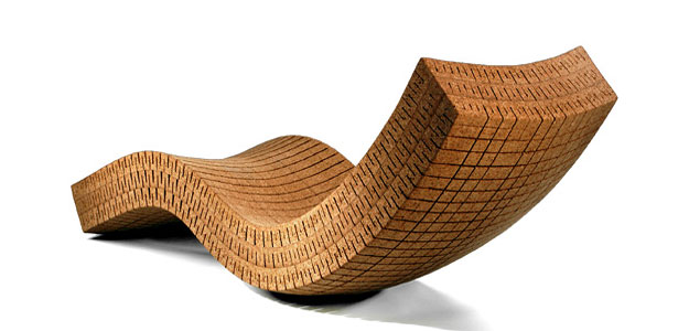 Patio Furniture Ideas: Outdoor Furniture - Garden Furniture - Design - Art - Eco - Eco-friendly - 100% Recycled - Cork - Chaise Lounge - Daniel Michalik - Brooklyn - New York City