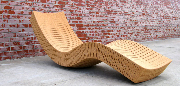 Patio Furniture Ideas: Outdoor Furniture - Garden Furniture - Design - Art - Eco - Eco-friendly - 100% Recycled - Cork - Chaise Lounge - Outdoors - In Garden - Daniel Michalik - Brooklyn - New York City