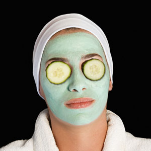 Soothing: Cucumbers On Eyes