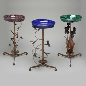 Decorative Metal Bird Baths