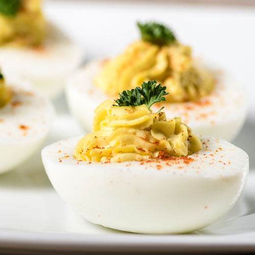 deviled eggs, barbecue