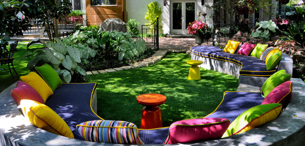 Decorating with Color: Bright Colors - Carla - Style - Eclectic Garden Retreat - Patio - Outdoor Decor - Bright Colors - Throw Pillows
