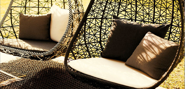 Patio Furniture Ideas: Outdoor Furniture - Garden Furniture - Design - Art - Swing - Kettal Group - Kettal Maia - Egg Swings - Braiding - Spain