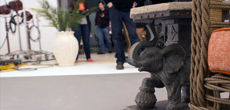 photoshoot, outdoor elephant table