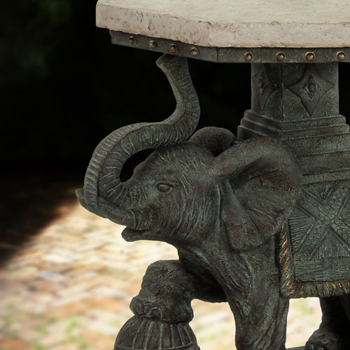 elephant decor, patio end table, Bombay® elephant table