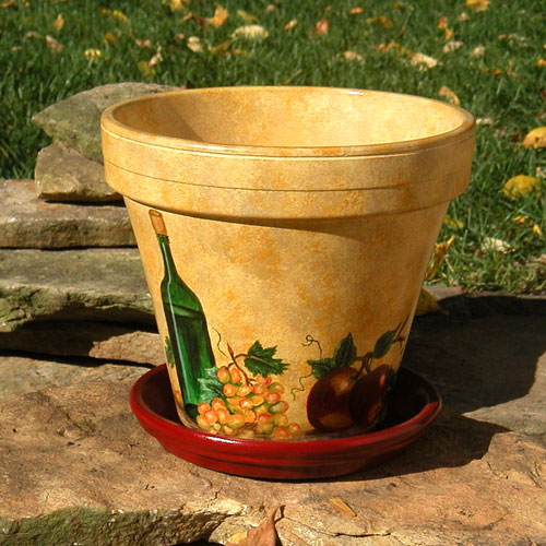 Planters transition your outdoors to fall bombay outdoors for Decorative outdoor pots