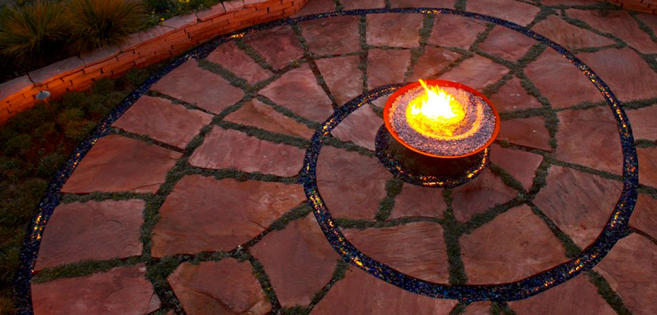 flagstone patio, fall cleaning tips