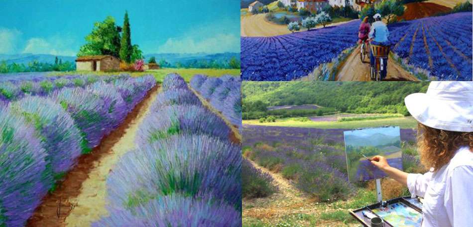 provence, france, lavender, artists