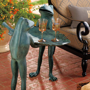 Animal Character Tables - Outdoor Decor - Furniture - Frogs - Conversational Frog Table