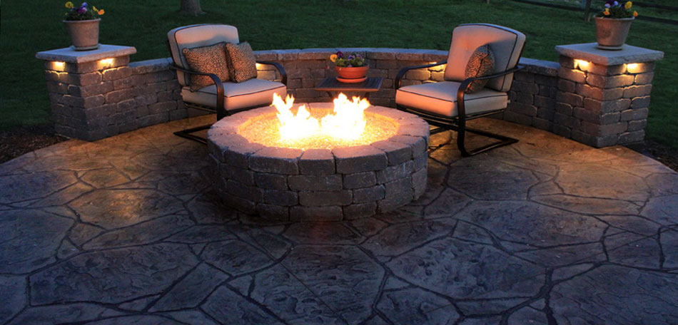 fall cleaning tips, stamped concrete patio
