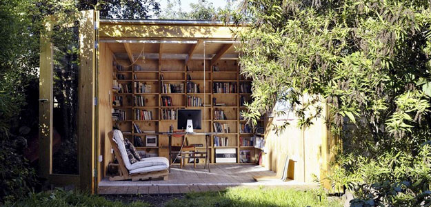 Outdoor Rooms: Shed - Outdoor Library Shed - London