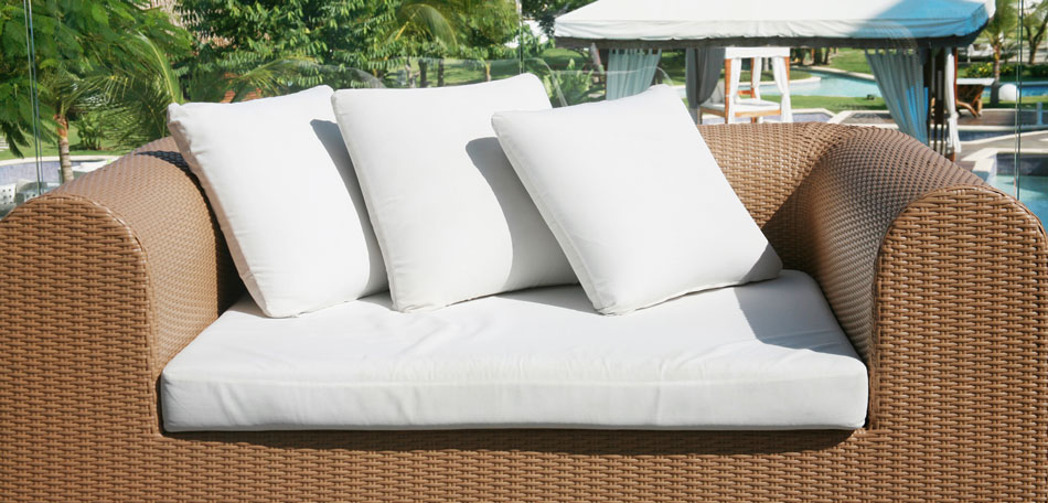 cleaning patio cushions, loveseat