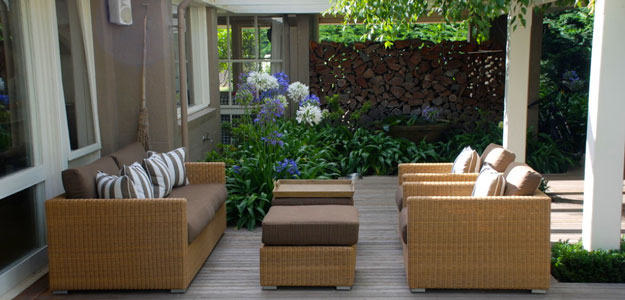 Wicker Patio Furniture: Australia - Melbourne - Pergola - Patio - Contemporary - Wicker Chairs - Chair Cushions - Wicker Ottoman - Garden - Plants