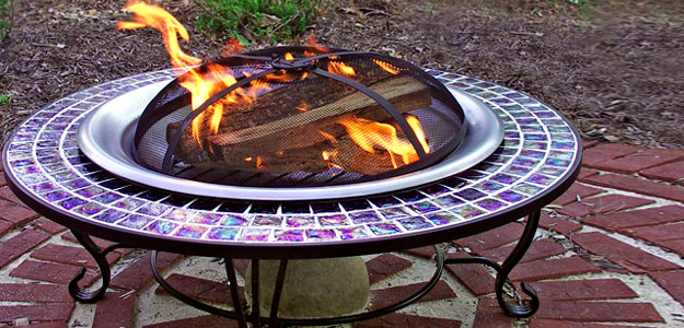 Decorating with Color: Bright Colors - Carla - Style - Outdoor Decor - Bright Colors - Fire Pit Table - Patio Ideas
