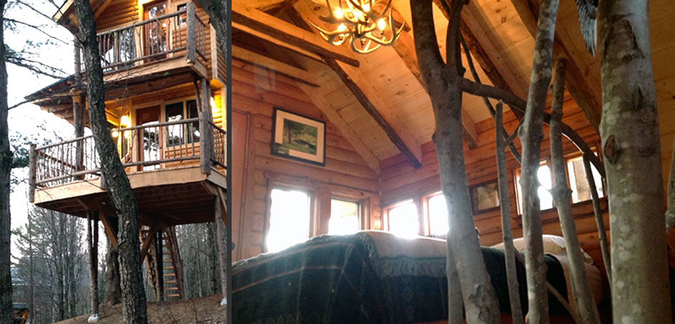 glamping, mountain treehouse, vermont