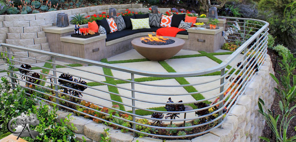 contemporary patio, Orange County, patio design ideas