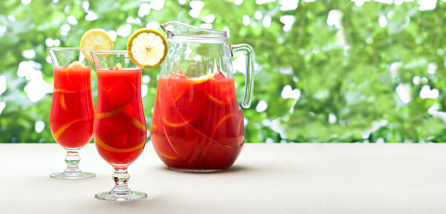 Sangria: Recipes - Backyard Sipping - Patio - Outdoors - Oranges - Lemons