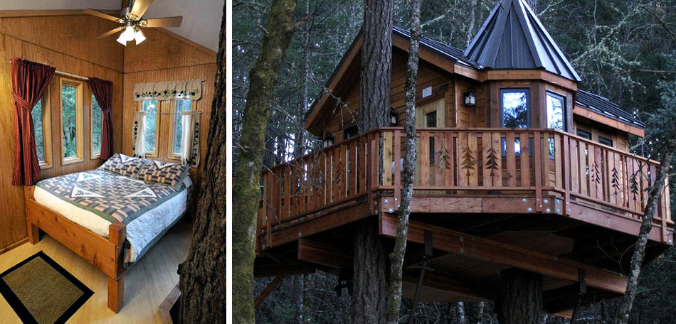 glamping, oregon, treehouse, bed and breakfast