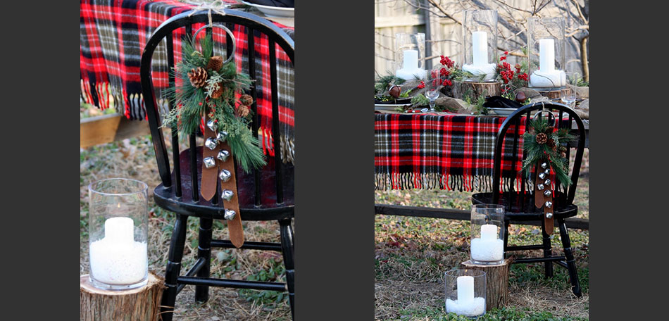 outdoor tablescape, holiday tablescape, holiday decorations, christmas decorations, christmas tablescape, holiday decorating ideas