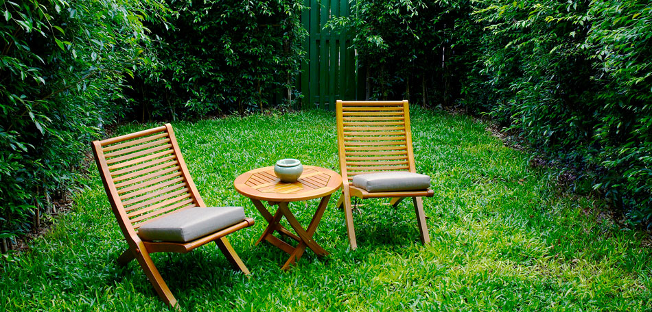 cleaning patio cushions, garden seating