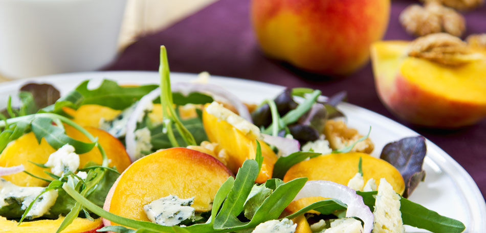 peach recipes, peach salad