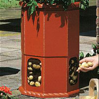 Potato Barrel: How to Plant Potatoes - Plastic Potato Barrel - Potato Barrels - Growing Potatoes in Containers
