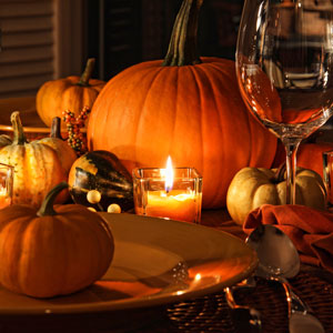 Fall Decorating: outdoor decorating, decorating ideas, porches, dining, dining tables, patio tables, table setting ideas, table, autumn, fall, tablescape, pumpkins, pumpkin, candle, wine, glass, gourd, gourds