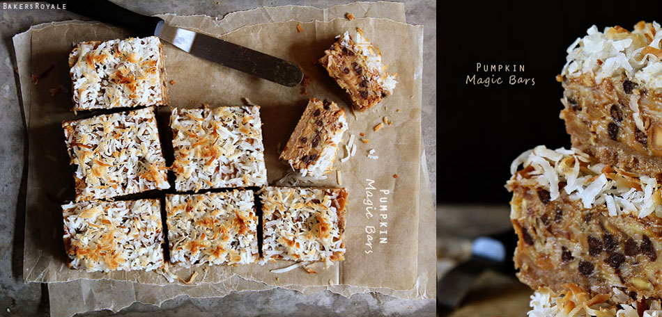 pumpkin recipes, pumpkin magic bars