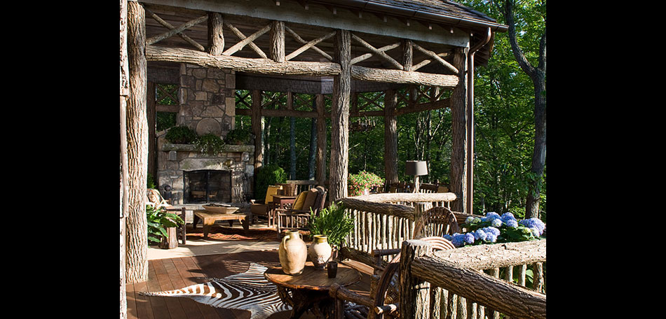 rustic porch, Atlanta, Georgia, patio design ideas
