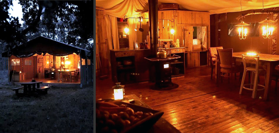 glamping, safari tent, illinois
