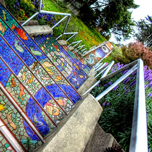 San Francisco Parks: Mosaic Stairs