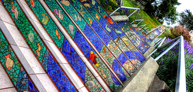 16th Avenue San Francisco Tiled Steps