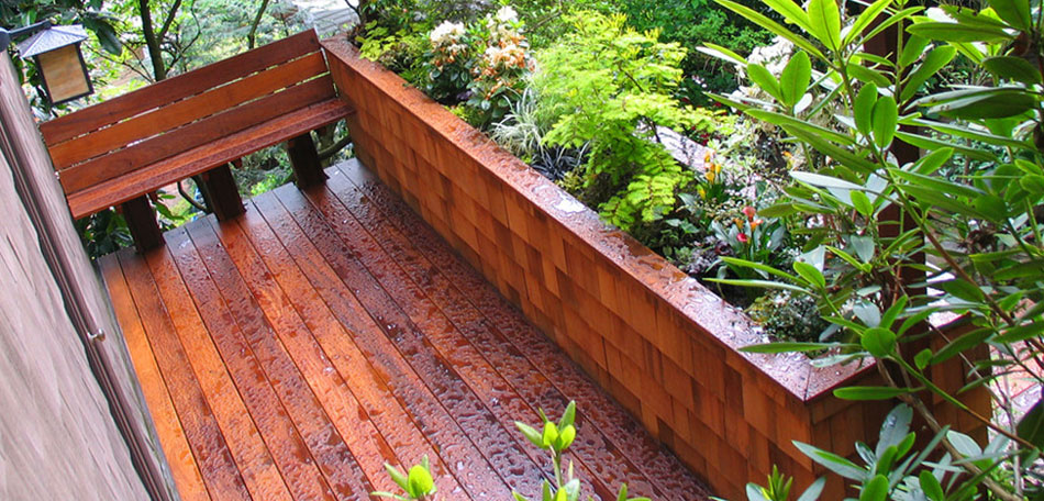 fall cleaning tips, sealed wood deck