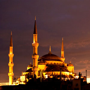 Sunset, sunsets, Beautiful Sunsets, Countries, Near East, Middle East, Places to Visit, Attractions, Bombay Outdoors, Inspiring, Shapes, Architecture, Turkey, Istanbul, Sultan Ahmed Mosque, Blue Mosque, spires, minarets