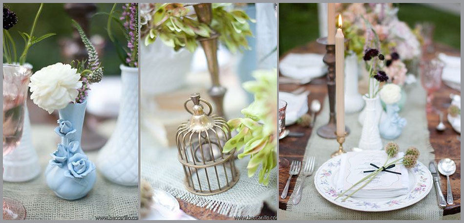tablescape ideas, french garden