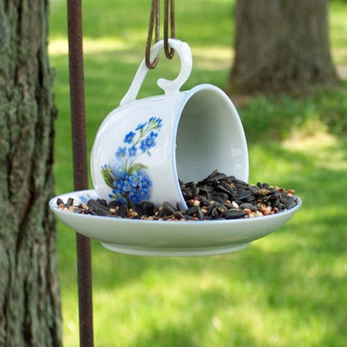 birds, bird feeders, backyard, goldfinch, handmade, tea cup, bird feeder, teacup, outdoor decor, bird watching, pine siskin, bird food, chickadees, hand made, backyard birds, birdseed, winter birds, bird feeder, birdwatching, bird feeding, feeding birds, bird table, hanging bird feeder