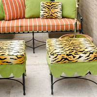 Animal Symbolism: Patio Furniture - Tiger Print - Animal Print Cushions - Tiger Print Cushions