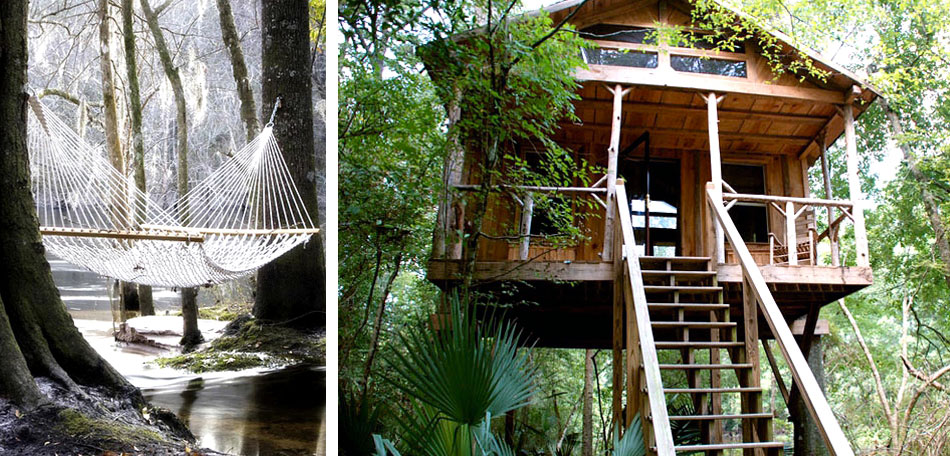 glamping, forest treehouse, South Carolina