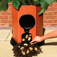 Potato Barrel: How to Plant Potatoes - New Plastic Potato Barrel - Potato Barrels - Growing Potatoes in Containers