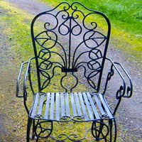 Wrought Iron Furniture   French 1890u0027s Vintage Patio Chair
