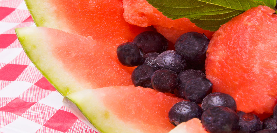 watermelon blueberry salad, 4th of july party ideas